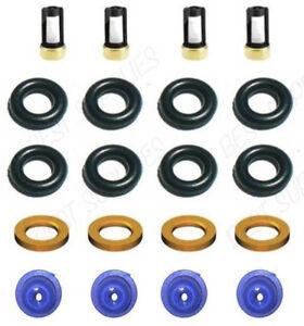 Fuel Injector Service Repair Kit Caps Rings Filters Seals Porsche 911 924 944