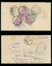 Mayfairstamps Jamaica 1896 TO Montreal registered QV Multifranked Cover wwf66475