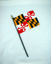 Maryland- State Mini Stick Flag- 4 inches by 5 1/2 inches- New!