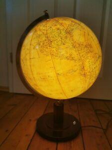 1950 COLUMBUS ERDGLOBUS GLOBUS GLAS alt LEUCHTGLOBUS ERDE WELTKARTE Atlas