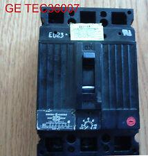 GENERAL ELECTRIC TEC36007 CIRCUIT BREAKER 3 POLE 07 AMP 600 VOLT TEC36007