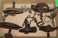 Lot Of 5 Vintage Antique Traps - Sold As Is