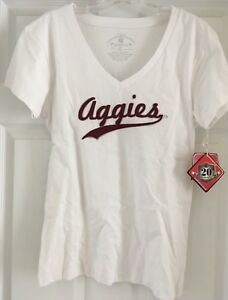 Texas A&M Aggies Colosseum Womens V Neck T-Shirt Size XL NWT NEW **Read Descript