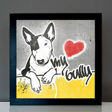 Bullterrier No.3 Bulli Monokel Graffiti Urban Art Stil Poster Print Kunstdruck