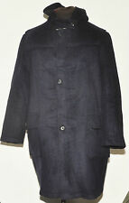 "GLOVERALL MENS WOOL DUFFEL COAT LARGE 44"" NAVY BLUE"