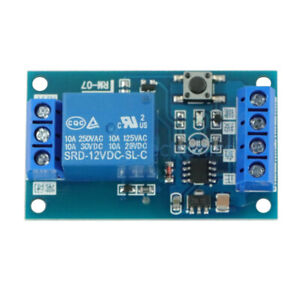 12V Bistable Bond Relay Car Stop Start Self-Locking Modification Switch Module