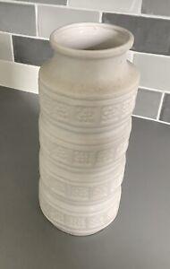 Vintage Pottery / Ceramic West German Vase 30cm Tall # 268-30 ~ Cream.