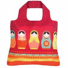 Envirosax reusable bag roll up shoulder bag; Babushka matryoshka Russian dolls