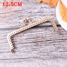 Light Gold DIY Purse Handbag Handle Coin Bag Metal Kiss Clasp Lock Framehandlese 12.5cm