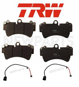 For Audi Q7 Porsche Cayenne VW Touareg Front Disc Brake Pad Set TRW w/ Sensors