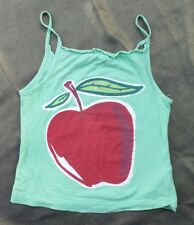New ,LA Girls, Apple Print Vest Top-Apple Green-Girls age 11-13 yrs