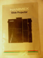 Instructions slide projector HANIMEX Black IR model @1988  CD/EMail