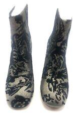 Nanette Lepore Women's Rose Pewter Metallic Brocade Booties Size 7 - New in Box
