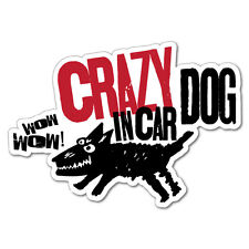 Crazy Dog In Car Sticker Decal Stickers Pet Art Laptop #7141EN