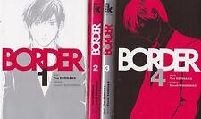 BORDER tomes 1 à 4 Kotegawa manga seinen français SERIE COMPLETE Komikku