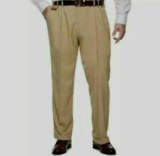 Van Heusen Traveler Stretch Pleated Straight Dress Pants Men's Sz 50x32 Big&Tall