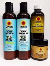 Tropic Isle Living Jamaican Black Castor Oil, Shampoo, Conditioner, & Hair Food