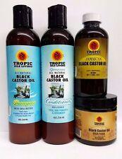 Tropic Isle Living Jamaican Black Castor Oil, Shampoo, Conditioner, & Hair Food