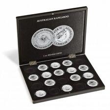 Estuche para 20 monedas de plata Australian Kangaroo en cápsulas negro