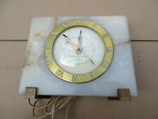 """GENERAL ELECTRIC TELECHRON """"AIRLUX"""" CLOCK IN RUNNING CONDITION 1940's - 1950's"""