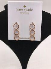$48 Kate Spade Rose Gold CHAIN REACTION  Circle Linear Drop Earrings #6