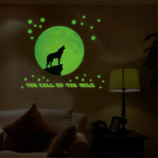 Wolf Glow At Night Room Home Decor Removable Wall Stickers Decals Decoration