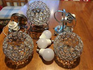 Chrome crystal,led wall light lamp