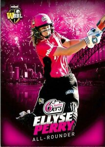✺New✺ 2017 2018 SYDNEY SIXERS WBBL Cricket Card ELLYSE PERRY