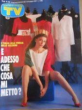 TV Sorrisi e Canzoni n°23 1987 Edoardo Bennato Philippe Leroy Elezioni [D50]