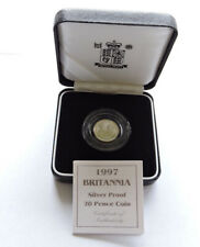 More details for 1997 royal mint silver proof 20p 1/10 oz britannia cased with coa