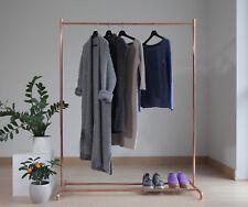 Handmade minimalist interior pure copper clothes hanger rack display stand