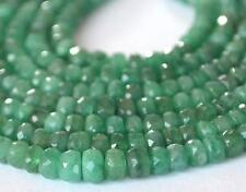 "17"" STRAND FINE EMERALD FACETED RONDELLE 3 - 5MM (1 LINE) NATURAL GEMSTONE #2612"
