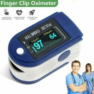 Finger Pulse Oximeter UK Fingertip Blood Oxygen SpO2 Heart Monitor Proffesional