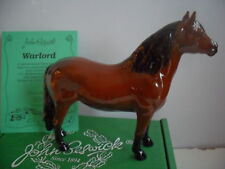 Beswick-Cheval-Dartmoor-PONY - Champion-WARLORD-Limited-Edition - Coffret-anglais-made