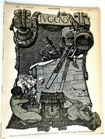 New Year's Eve Midnight Band Jugend Magazine 1899 Issue 1 Jugenstil Art Nouveau