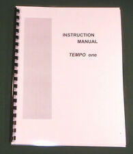 Tempo One Instruction manual - ring bound & protective covers!