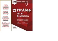 McAfee Total Protection 2018 10 périphériques 12 Month Global License pc, mac etc