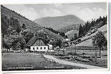 19960 Foto AK Lomnitz bei Wüstegierdorf Straße Haus im Dreiwassertal 1936
