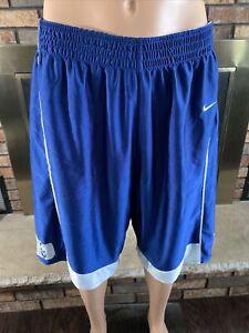 Vintage NIKE NCAA DUKE Blue Devils Team Basketball Shorts Mens Size Medium