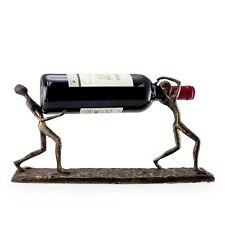 Danya B Two Men Carrying a Bottle Metal Wine Holder - ZI7237