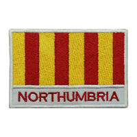 Northumbria County Flag Patch Iron On Patch Sew On Embroidered Patch