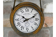 43cm Tall Wall Mounted Rust Finish Clock
