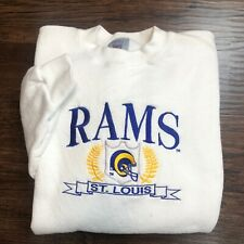 Vintage 90s St Louis Rams / LA Embroidered NFL Crewneck Sweatshirt Mens XL