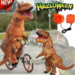Halloween Inflatable T-REX Costume Dinosaur Adults Cosplay Party Blow Up Suit