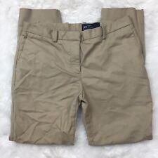 Gap Women's Career Work Slim Crop Tan Beige Khaki Pants Size 2 Regular