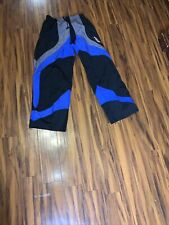 Tour Rage Men's Roller Hockey Pants Nylon HPA Medium  Elastic Waist Black/Blue