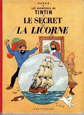 TINTIN LE SECRET DE LA LICORNE RARE EDITION DU DEBUT DES ANNEES 1960