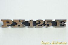 VESPA - STEMMA SCRITTA Pannello laterale - PX125E / PX 125 E - Cromo - COPERCHIO