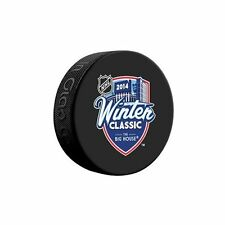 2014 NHL Winter Classic Logo Hockey Puck  Red Wings Maple Leafs READ DESCRIPTION