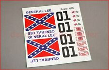 GENERAL LEE RC Car 1/18 Scale Decals Stickers Duke of Hazzard Set already cut